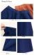 膝丈ウエストゴムスカート