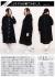 ホワイトステッチ&ボタンブラックコート