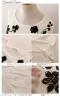 花刺繍シフォンチュニック