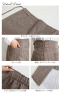 異素材切り替えチェック柄ロングスカート